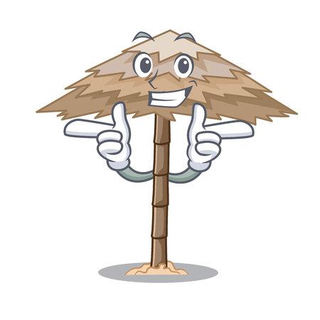Wink character tropical sand beach shelter resort vector illustration