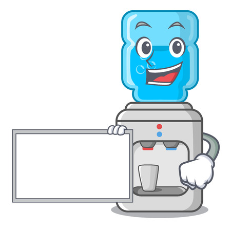 With board cartoon water cooler for office and home vector illustration