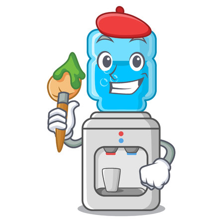 Artist cartoon water cooler for office and home vector illustration