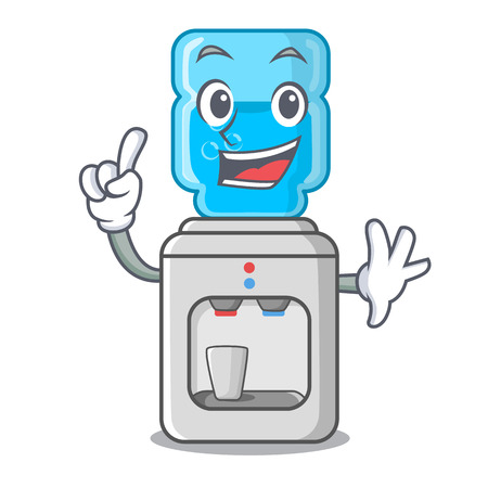 Finger modern water cooler isolated on mascot vector illustration Çizim