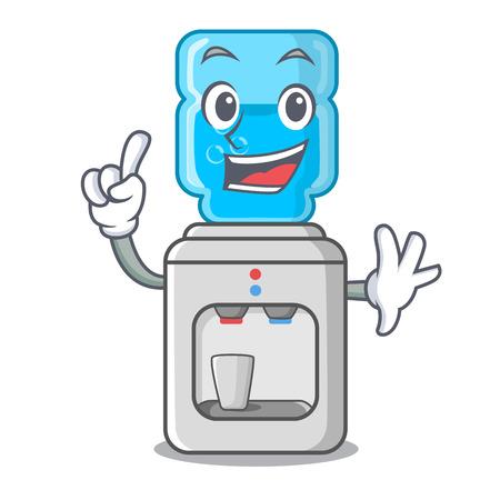 Refroidisseur d'eau moderne doigt isolé sur illustration vectorielle mascotte