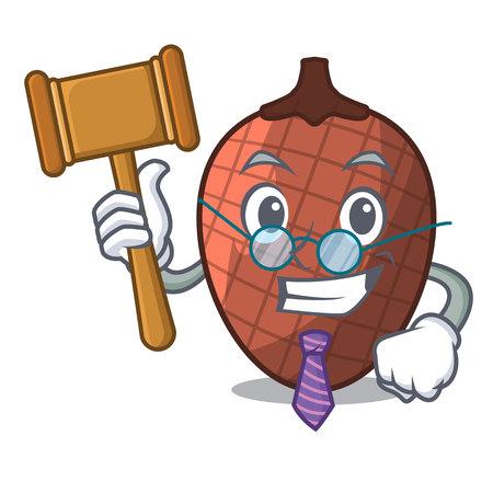 Judge fruits mauritia flexuosa isolateed on cartoon vector illustration