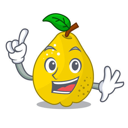 Finger sweet quince isolated on mascot cartoon vector illustration  イラスト・ベクター素材