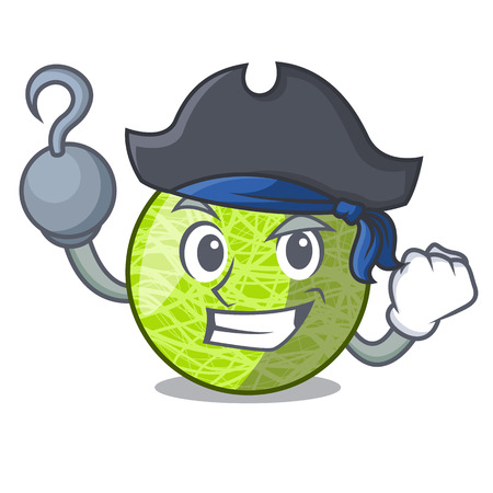Pirate fresh melon isolated on character cartoon