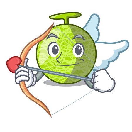 Cupid fresh melon isolated on character cartoon vector illustration 向量圖像