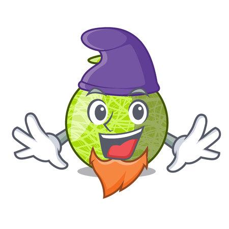 Elf fresh melon isolated on character cartoon 版權商用圖片