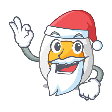 Santa freshly boiled egg isolated on mascot cartoon vector illustration