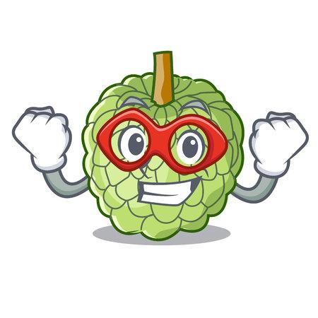 Super hero character custard apple tropical fruit delicious