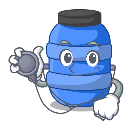 Doctor large cartoon plastic barrel for water