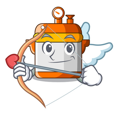 Cupid character cartoon modern cooker for cooking vector illustration  イラスト・ベクター素材