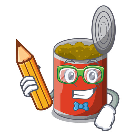 Student metal food cans on a cartoon vector illustration 일러스트