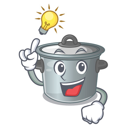 Have an idea cookware stock pot isolated on mascot