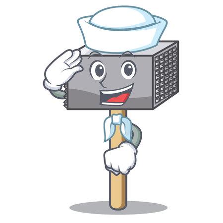 Sailor character of metallic meat tenderizer hammer