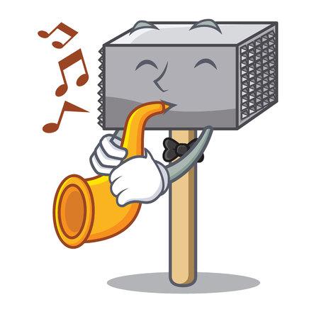 With trumpet wooden meat hammer cartoon for kitchen utensil