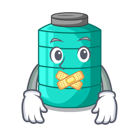 Silent cartoon water tank for in agriculture vector illustration Illustration