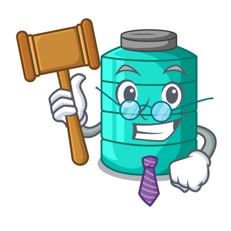 Judge cartoon water tank for in agriculture vector illustration Illustration