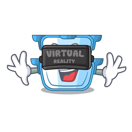 Virtual reality cartoon double boiler for the cooking vector illustration  イラスト・ベクター素材
