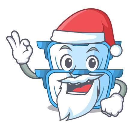 Santa cartoon double boiler for the cake steaming vector illustration Illustration