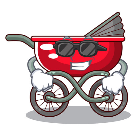 Super cool cartoon baby stroller in the beach