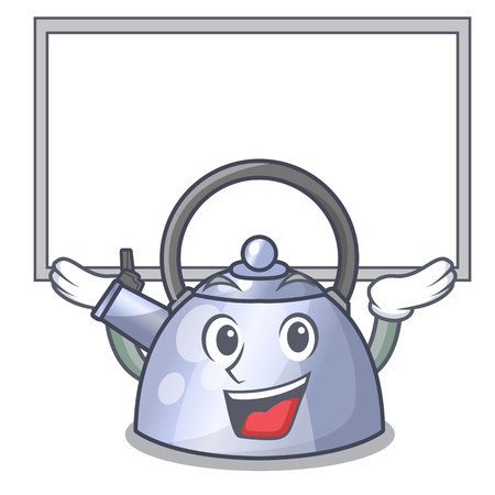 Van bestuur cartoon fluitende ketel voor gasfornuis vectorillustratie