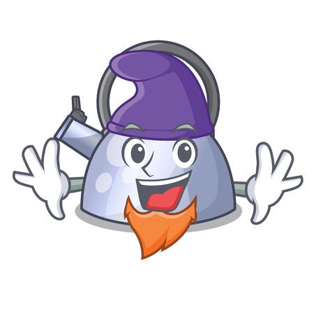 Elf cartoon whistling kettle for gas cooker vector illustration