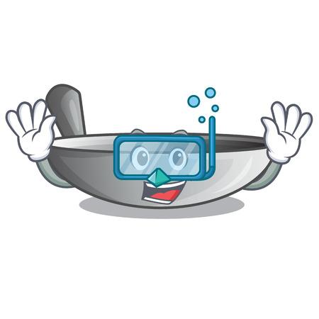Diving wok frying pan utensil kitchenware cartoon