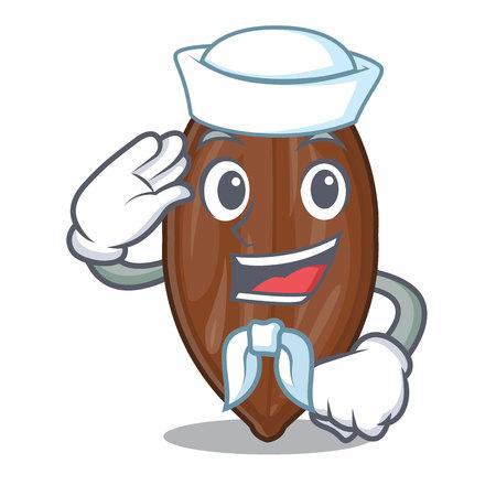 Sailor pecan nuts on a cartoon table