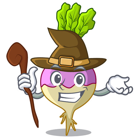 Witch rutabaga cartoon sale in the market vector illustration