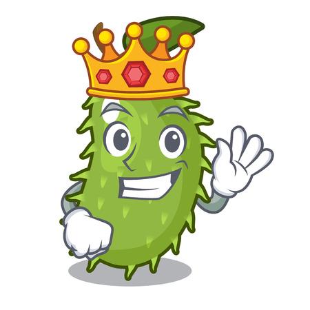 King fresh soursop fruit isolated on mascot vector illustration Illustration