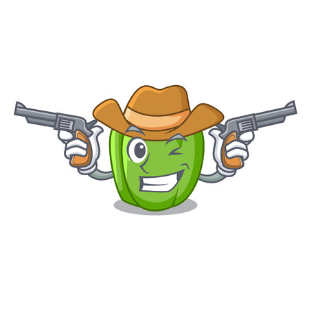 Cowboy green pepper in the plate character