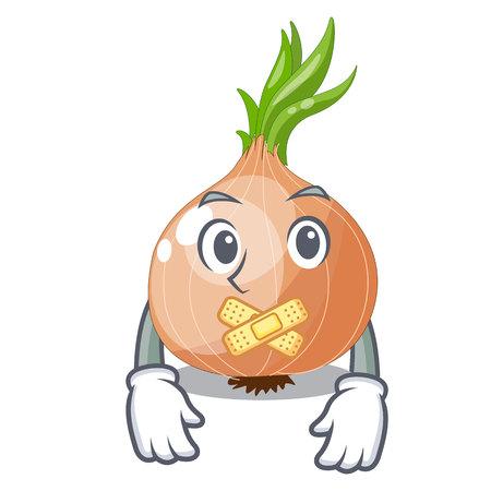 Silent cartoon ripe onion in the kitchen  イラスト・ベクター素材