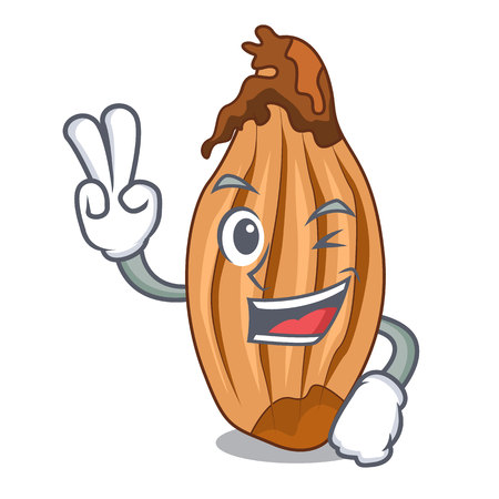 Two finger character fresh shallots at farmer market  イラスト・ベクター素材