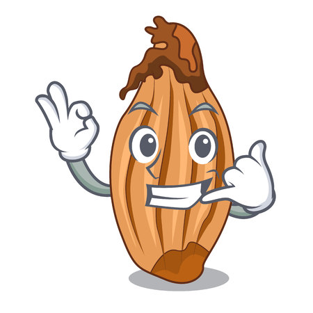 Call me shallot in a glass bowl cartoon vector illustration