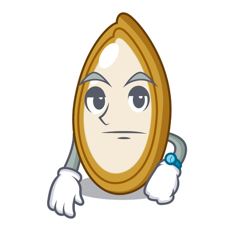 Waiting fruit pumpkin seed isolated on mascot  イラスト・ベクター素材