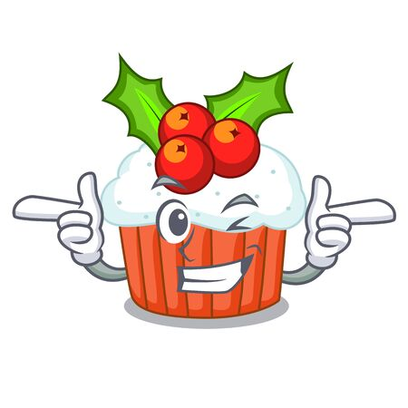 Wink cartoon homemade christmas cupcakes with sprinkles
