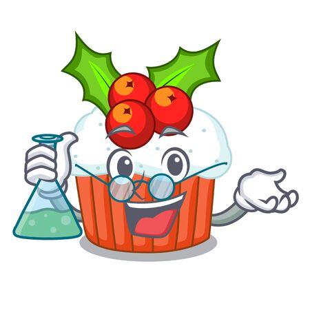 Professor cartoon homemade christmas cupcakes with sprinkles Stockfoto