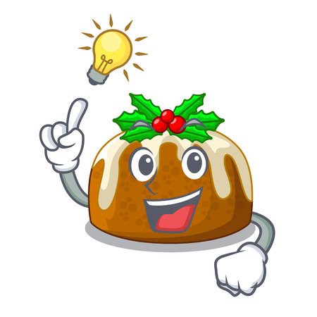 Have an idea christmas pudding isolated on the mascot