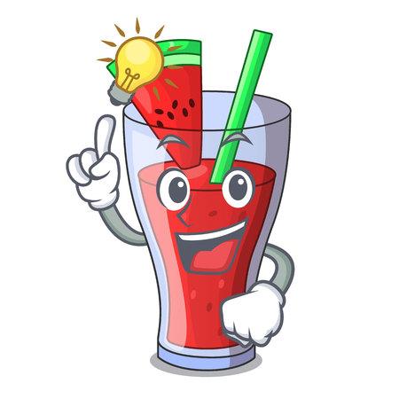 Have an idea fresh watermelon juice isolated on mascot vector illustration