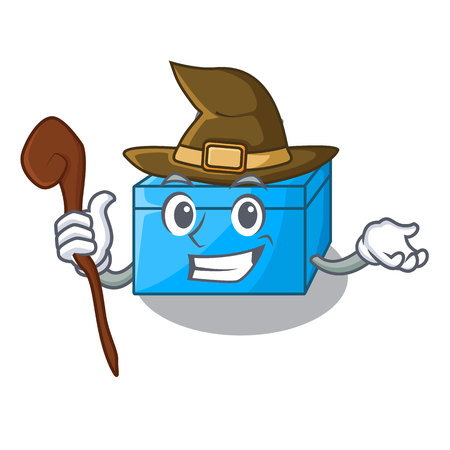 Witch cartoon tissue box on a sideboard vector illustration