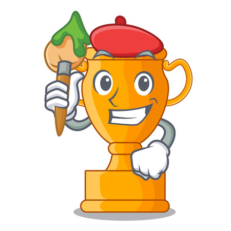 Artist character gold trophy award for competition Vektorové ilustrace