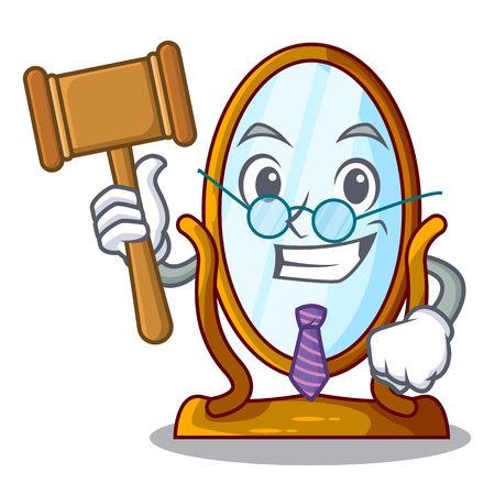 Judge big dressing mirror isolated on mascot