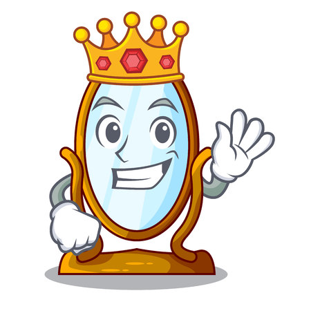 King big dressing mirror isolated on mascot vector illustration Vektorgrafik