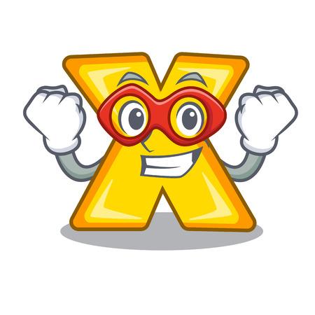 Dibujos animados de superhéroe multiplicar de un signo de eliminación