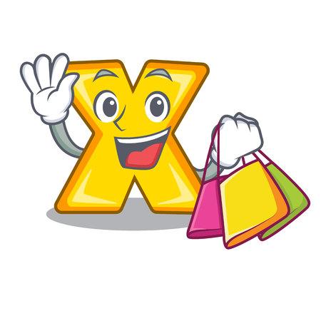 Dibujos animados de compras multiplicar de una ilustración de vector de signo de eliminación