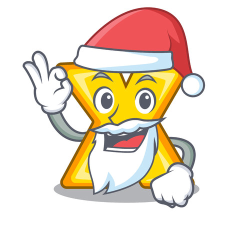 Santa multiply sign icon isolated on mascot