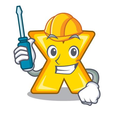 Icône de signe de multiplication automobile isolé sur mascot