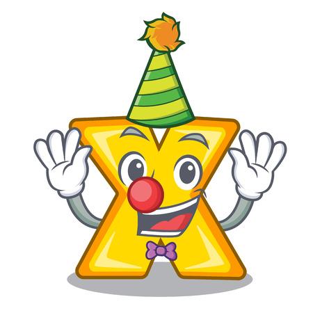 Icône de signe de multiplication de clown isolé sur mascot