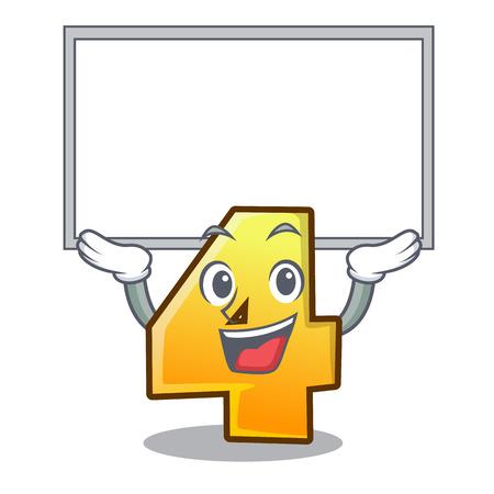 Sull'illustrazione del vettore della parete del personaggio numero quattro del tabellone