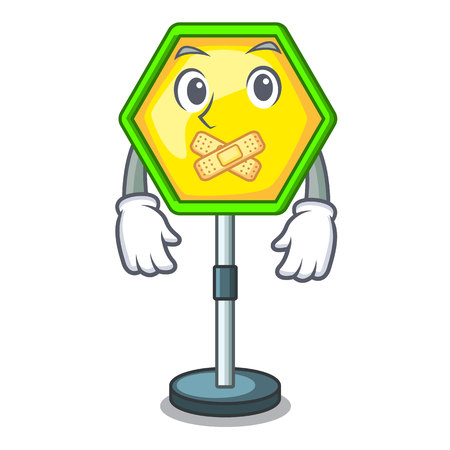 Silent traffic sign isolated on the mascot
