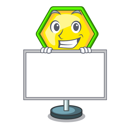 Grinning with board character traffic sign regulatory and warning